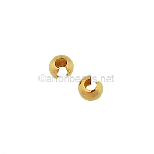 14K Gold Filled Crimp Cover - 4mm - 6pcs