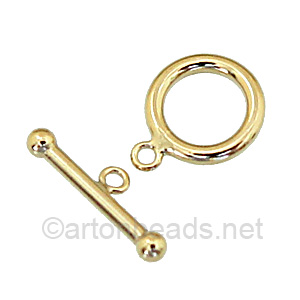 14K Gold Filled Toggle - Round - 12mm - 1 Sets