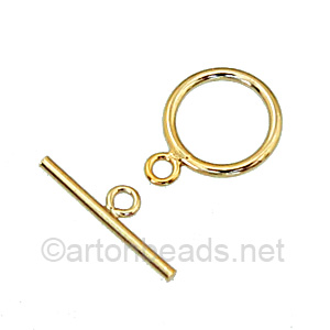 14K Gold Filled Toggle - Round - 11mm - 1 Sets