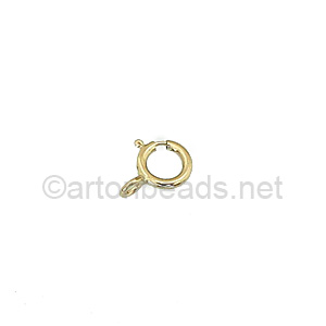 *14K Gold Filled Spring Clasp - 5mm - 6pcs - Click Image to Close