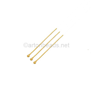 14K Gold Filled - Ball Pin - 25mm - 8pcs
