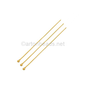 14K Gold Filled - Ball Pin - 38mm - 6pcs