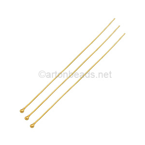 14K Gold Filled - Ball Pin - 50mm - 4pcs