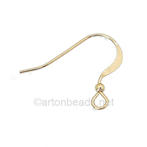 14K Gold Filled Earring Hook - Ball - 16.8mm - 4pcs