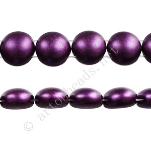 Candy 2-hole Glass Beads - Purple Pearl Pastel - 8mm - 22pcs
