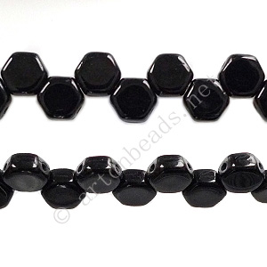 Honeycomb 2-hole Glass Beads - Jet - 6mm - 30pcs