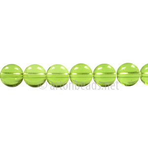 Glass Beads - Round - Olivine - 6mm - 1 Strand