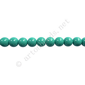 Baking Painted Glass Bead - Round - Turquoise - 4mm - 100pcs