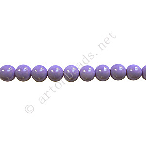 Baking Painted Glass Bead - Round - Lavender - 4mm - 100pcs