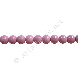 Baking Painted Glass Bead - Round - Violet - 4mm - 100pcs