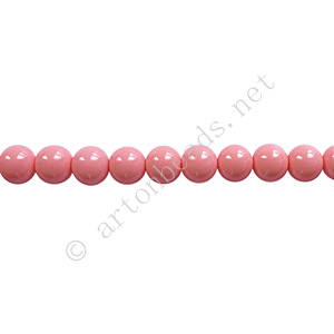Baking Painted Glass Bead - Round - Pink - 4mm - 100pcs