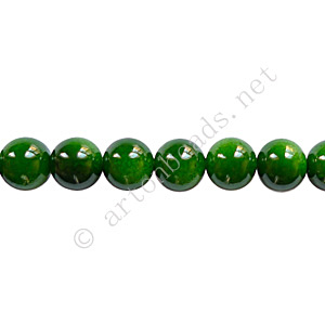 Baking Painted Glass Bead - Round - Forest Green - 6mm - 65pcs
