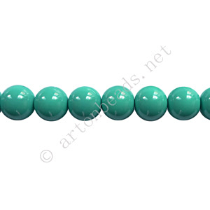 Baking Painted Glass Bead - Round - Turquoise - 6mm - 65pcs