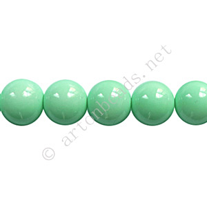Baking Painted Glass Bead - Round - Mint - 8mm - 50pcs