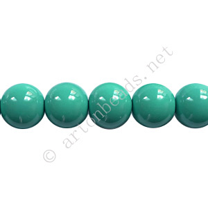 Baking Painted Glass Bead - Round - Turquoise - 8mm - 50pcs