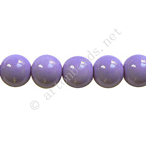 Baking Painted Glass Bead - Round - Lavender - 8mm - 50pcs