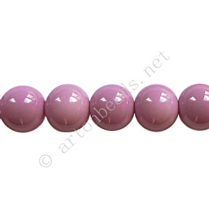 Baking Painted Glass Bead - Round - Violet - 8mm - 50pcs