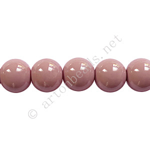 Baking Painted Glass Bead - Round - Pinkish Purple - 8mm-50pcs