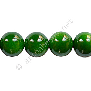 Baking Painted Glass Bead - Round - Forest Green - 10mm-40pcs