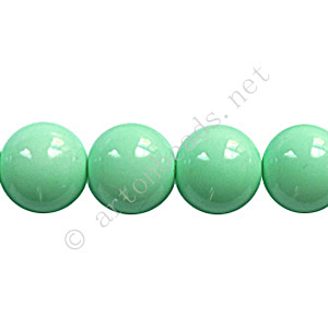 Baking Painted Glass Bead - Round - Mint - 10mm - 40pcs