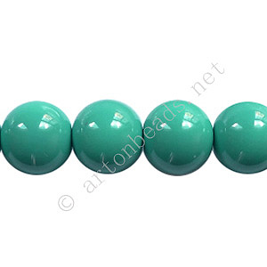 Baking Painted Glass Bead - Round - Turquoise - 10mm - 40pcs