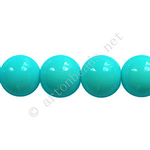 Baking Painted Glass Bead - Round - Baby Blue - 10mm - 40pcs