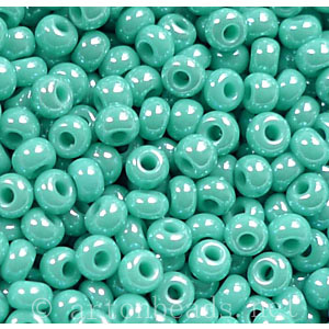 Czech Seed Beads - Turquoise Luster Opaque - 11/0 - 1 Vial