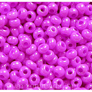 Czech Seed Beads - Fuchsia Opaque Dyed - 11/0 - 1 Vial