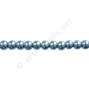 Light Sapphire - Chinese Glass Pearl - 6mm - 32""