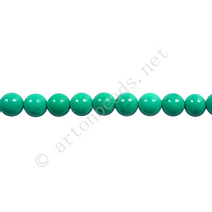 Turquoise - Round - 4mm