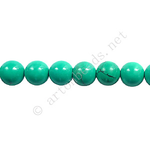 Turquoise - Round - 6mm