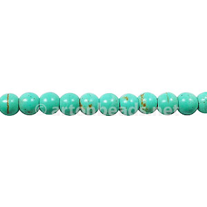 Dyed Turquoise - Round - 4mm