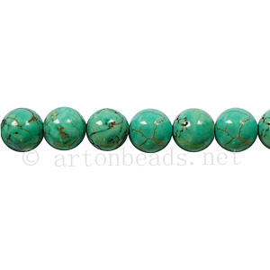 Dyed Turquoise - Round - 6mm
