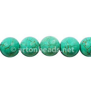 Dyed Turquoise - Round - 8mm