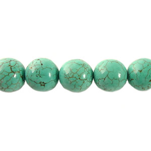 Dyed Turquoise - Round - 10mm