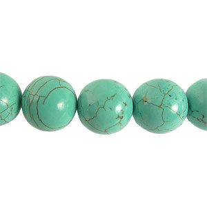 Dyed Turquoise - Round - 12mm