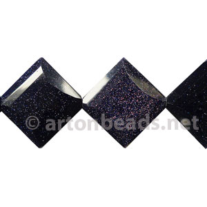 Blue Sand Stone - Faceted Rhombus - 25x8mm