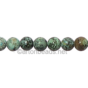 African Turquoise - Round - 6mm