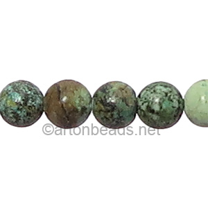 African Turquoise - Round - 8mm