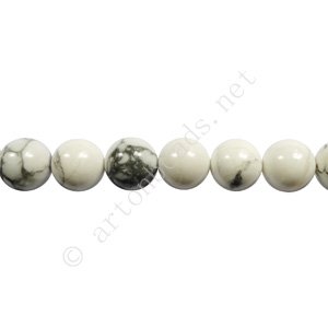 White Howlite - Round - 6mm