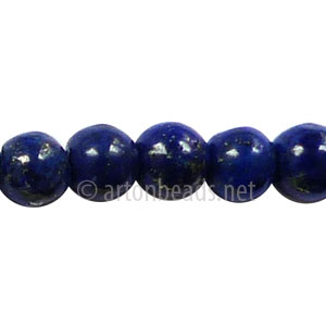 Enhanced Lapis Lazuli - Round - 8mm