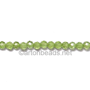 *Peridot - Faceted - Round - 2mm