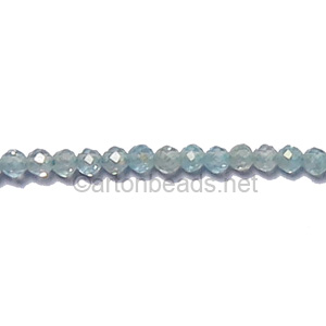 *Blue Topaz - Faceted - Round - 2mm