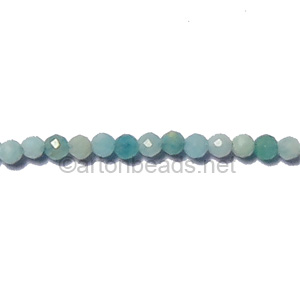 Amazonite - Faceted - Round - 2mm