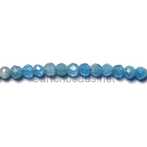 Blue Apatite - Faceted - Round - 2mm