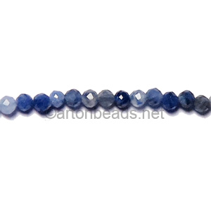 Sodalite - Faceted - Round - 2mm