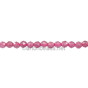 Pink Tourmaline - Faceted - Round - 2mm