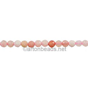 Pink Opal - Faceted - Round - 2mm