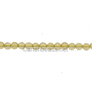 Citrine - Faceted - Round - 2mm