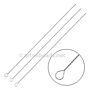 Steel Twist Wire Needles 0.35mm - 10pcs